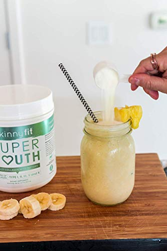 SkinnyFit Super Youth: 5 Types of Collagen Peptides, Hydrolyzed Powder Supplement for Joint & Bone Support, Glowing Skin, Strong Hair & Nails (58 Servings), Pasture Raised, Grass Fed, Cage Free by SkinnyFit (Image #5)