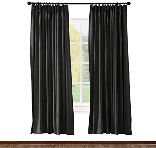Prim Sundproof Blackout Bedroom Curtain Room Darkening Thermal Insulated Pinch Pleat Window Curtain