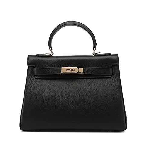 GUANGMING77 _Tasche Tasche Geprägtes Crossbody Handtasche 25CM black AEoelBfc8