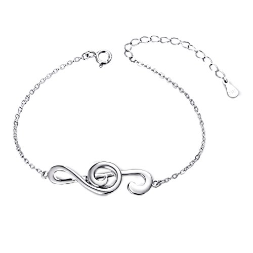 SILVER MOUNTAIN (Musical Note Bangle Bracelet) 925 Sterling Silver Jewelry For Women
