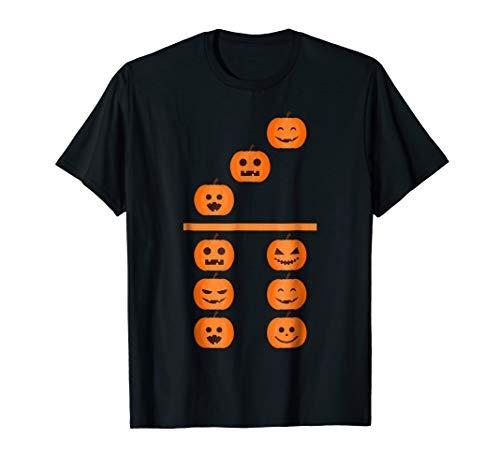 Pumpkin Emoji Domino 3 6 Halloween Matching Costume T -