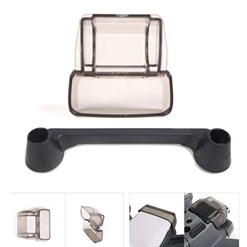 Elevin(TM) Camera Lens Cover & Controller Thumb Guard Cap for DJI Spark Gimbal Accessories (Black)