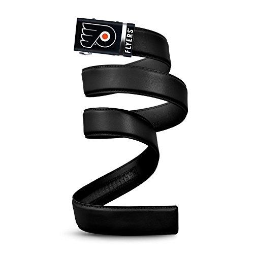 Mission Belt NHL Philadelphia Flyers, Black Leather Ratchet Belt, Large (Up to - Nhl Leather Flyers Philadelphia