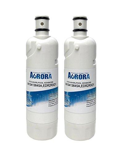 Aurora Premium Refrigerator Water Filter Whirlpool W10413645A, W10238154, Filter2, EDR2RXD1 (2-Pack)