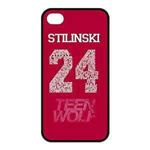 Teen Wolf Custom TPU Case Cover Protective Skin For Iphone 4 4s iphone4s-NY974