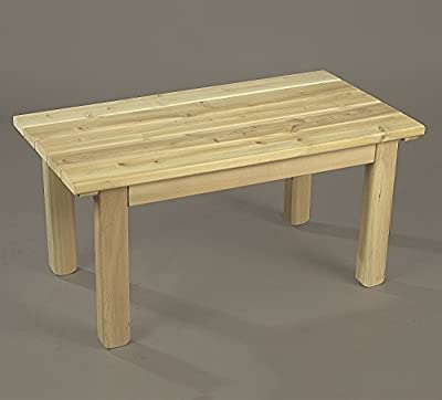 Rustic Natural Cedar 35 Inch Outdoor Patio English Garden Table (0500509)