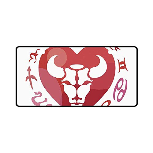 YOLIYANA Taurus Utility License Plate,Zodiac Sign Bull Personality Western Astrology Human Character Mystic Print Decorative for Car,11.8