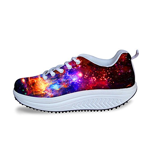 Sneakers Women HUGSIDEA 10 for Platform Fitness Colorful Ups Shape Fashion Mesh Colorful xcwf0qCpa