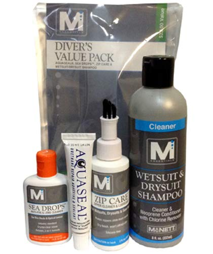 vers Value Pack Antifog, Wetsuit Shampoo, Aquaseal, Zip Care ()