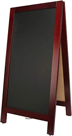 A-Frame Lavagna magnetica per menu ristorante Marrone