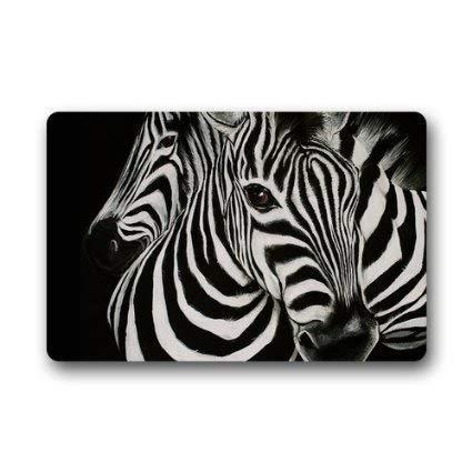 Home/&Apron Fashions Doormat Cute Zebra Indoor//Outdoor//Front Welcome Door Mat 23.6x15.7,L x W