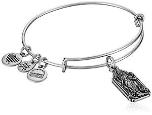 Alex and Ani Lakshmi Bangle Bracelet, Rafaelian Silver, Expandable