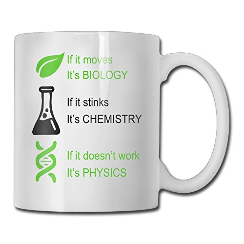 Hasdon-Hill Biology, Chemistry, Physics Coffee Mug,, Funny Tea Cup Idea for Him Or Her Science, Women and Men, Mother, Parent, Sister, Brother, Ceramic 11 Oz White by Hasdon-Hill (Image #6)