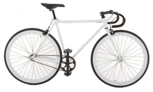 Vilano Small (50cm) Attack Fixed Gear Bike Track Bike, White