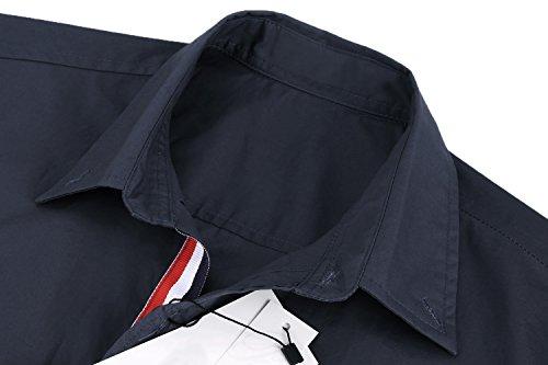 Detailorpin Men's Business Dress Shirt Slim Fit Contrast Button Down Long Sleeve Shirt by Detailorpin (Image #4)