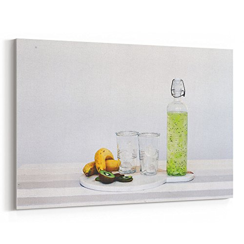 Westlake Art - Kiwi Still - 12x18 Canvas Print Wall Art - Canvas Stretched Gallery Wrap Modern Picture Photography Artwork - Ready to Hang 12x18 Inch (Kiwi Liqueur)