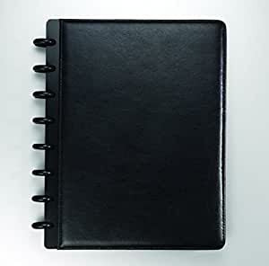"""Staples? Arc Customizable Leather Notebook System, Black, 6-3/4"""" x 8-3/4"""
