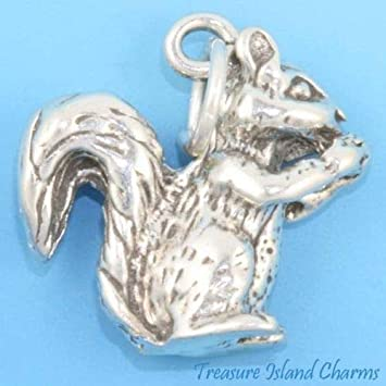 Amazon.com: Squirrel - Colgante de plata de ley 925 maciza ...