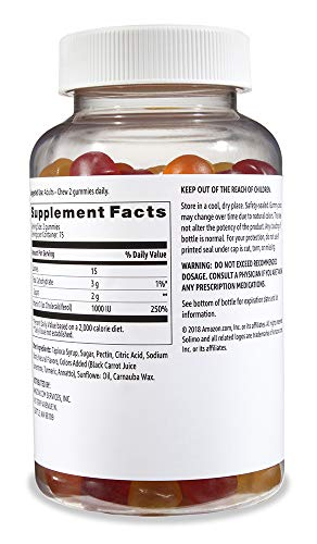 Amazon Brand Solimo Vitamin D3, 1000 IU, 150 Gummies, Over a 2 Month Supply