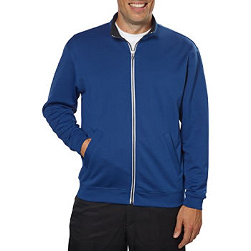 Pebble Beach Men's Full Zip Jacket-Dark Blue, Medium (Sweater Pebble Beach)