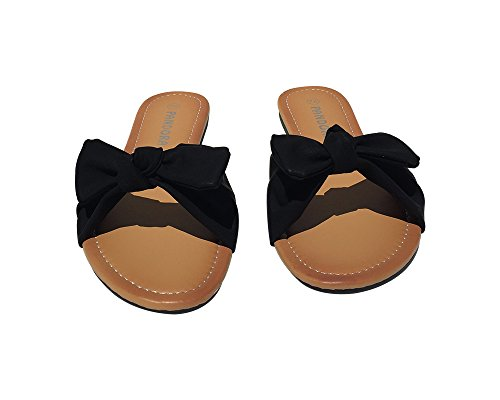 Ultra Poolside Cushion (Womens Open Toe Flat Slip On Black Sandals (Black 7))