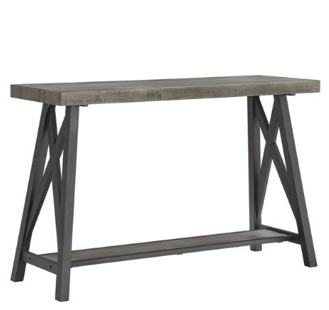 Amazon.com: Rústico – Consola entrada sofá mesa con estante ...