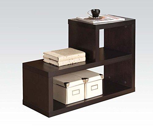 Leather Drawer Bench 2 - Brand New Carmeno 31''x11''x22''H Espresso Finish Bookshelf