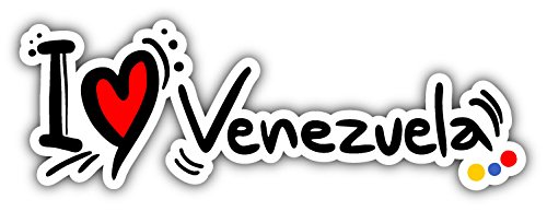 I Love Venezuela Travel Car Bumper Sticker Decal 8