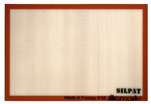 Slipat Non-Stick Silicone Commercial Size Baking Mat, 16.5-Inch by