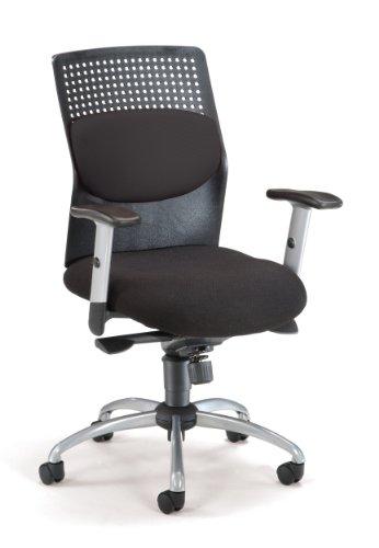 OFM AirFlo Series Executive Task Chair - Ergonomic Work Chair, Black (651-M11)