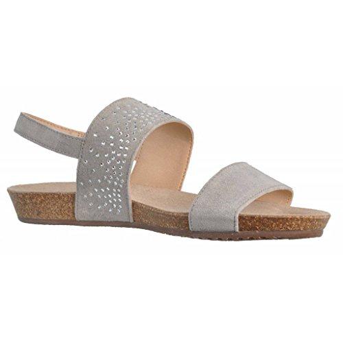 Sandalias y chanclas para mujer, color gris , marca GEOX, modelo Sandalias Y Chanclas Para Mujer GEOX D VINCA A Gris