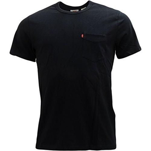 Price comparison product image Mens Levi Strauss T-Shirt Black Medium
