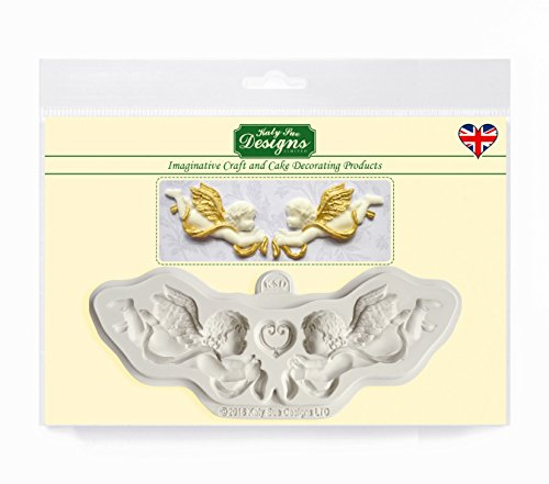 Ornamental Cherubs Mold for Cake Decorating, Cupcakes, Sugarcraft, Candies, Clay, Crafts and Card Making, Food Safe