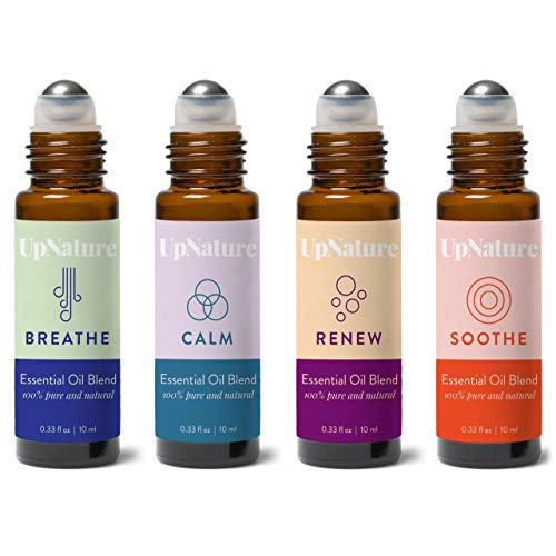 Rescue Essential Oil Roller Set - Tea Tree Melaleuca, Muscle Relief, Peace and Calming, Breathe Essential Oils - Easy Application, Pre-Diluted Roll-On - Leak-Proof Rollerball - No Diffuser Needed! (Peace And Calming Essential Oil For Dogs)