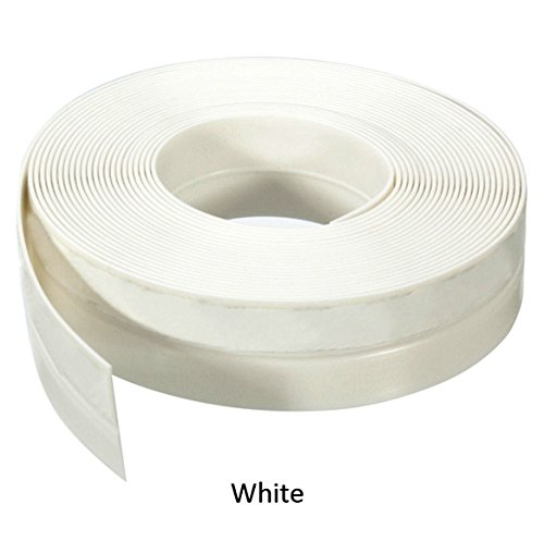 Frameless Weather Stripping Silicone Rubber Seal Window Door Sweep For -1 inch (25mm) x 16 Feet (5m ) Length Adhesive (WHITE) - Eclipse Wall Plate