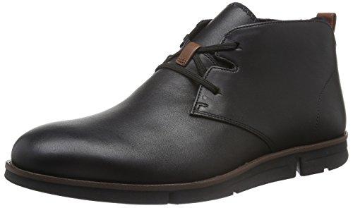 Clarks Herren Trigen Kurzschaft Stiefel Schwarz (Black Leather)
