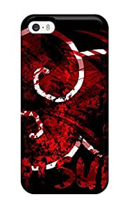 Iphone 5/5s Hard Back With Bumper Silicone Gel Tpu Case Cover Akatsuki