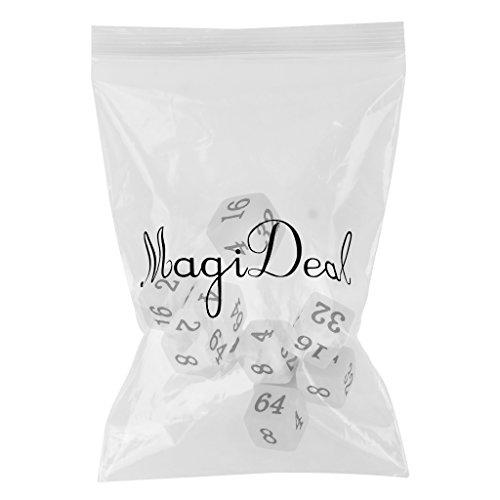 f3c953fc6 hot sale MagiDeal 10pcs Juego de Mesa Dados Múltiples Opaque Seises ...