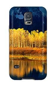High Grade ZippyDoritEduard Flexible Tpu Case For Galaxy S5 - Mountains With Yellow Trees