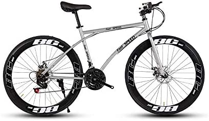 LRHD Bicicletas carretera, de 24 velocidades de 26 pulgadas, bicicletas de doble disco de freno, marco de acero al carbono de alta, camino de la bicicleta de carreras, los hombres y las