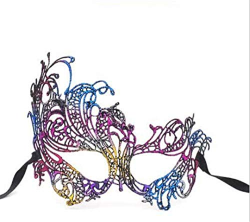 PATY&COSMSK Women Lace Eye Face Mask Masquerade Party Carnival Ball Prom Halloween Costume Decor Party Masks Multi -