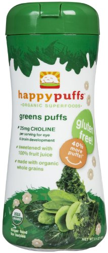 Happy Baby Organic Puffs Case Of 6 Greens