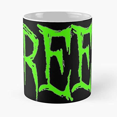Creep Creepy Red Bubble Halloween - 11 Oz Coffee Mugs Unique Ceramic Novelty Cup, The Best Gift For Halloween. -