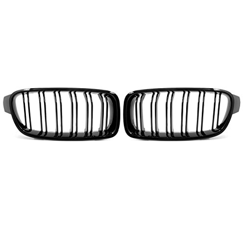 uxcell Glossy Black Front Bumper Kidney Grill Grille for 2012-2017 BMW F30 F31 4 Doors