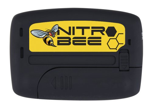 NITRO BEE Single Channel UHF Race Receiver with Channel Lock for Racing Radios Electronics - Includes Foam Stereo Earbuds and Belt Holster Clip by Rugged Radios (Image #2)