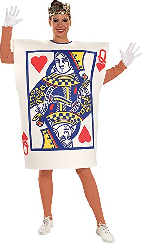 UHC Women's Queen of Hearts Outfit Funny Comical Theme Halloween Fancy Costume, (Cheap Queen Of Hearts Costumes)