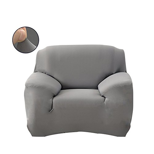 WATTA Grey Chair 1 Seater Stretch Elastic Polyester Spandex Slipcover