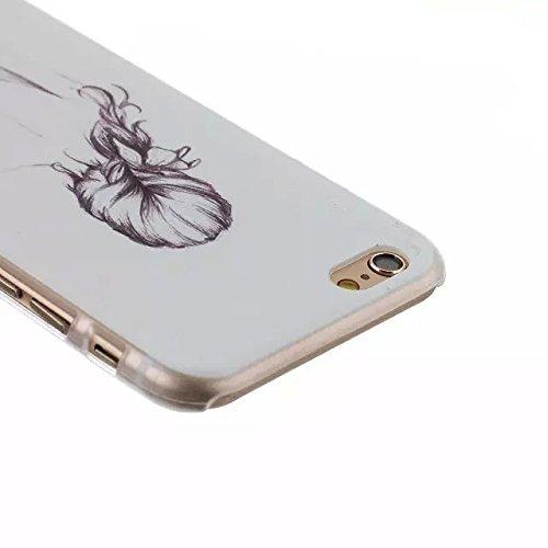 """For iPhone 6 4.7"""" Design Mignon dur Matte Case PC, Yaobai Cover Case Mode Impression dure de PC Matte Retour Effacer protection Slim Ultra Perfect Fit Case pour Apple iPhone 6 4.7"""""""