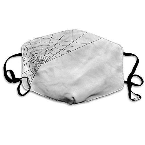 Modern Fashion Mouth Mask Spider Web Icon Halloween for Cycling Camping Travel W4