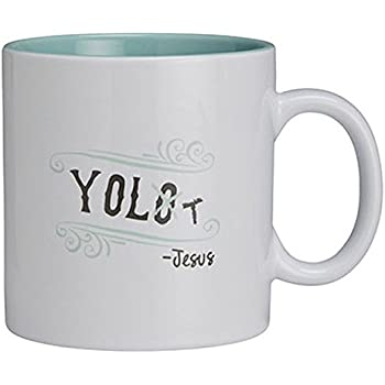CB Gift Papel YOLO Coffee Mug, White